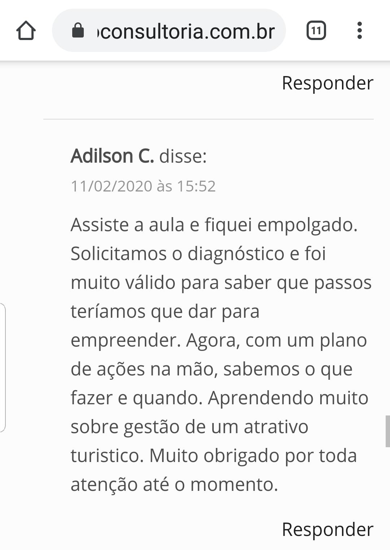 depoimento Adilson